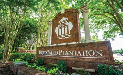 Brickyard Plantation's neighborhood sign