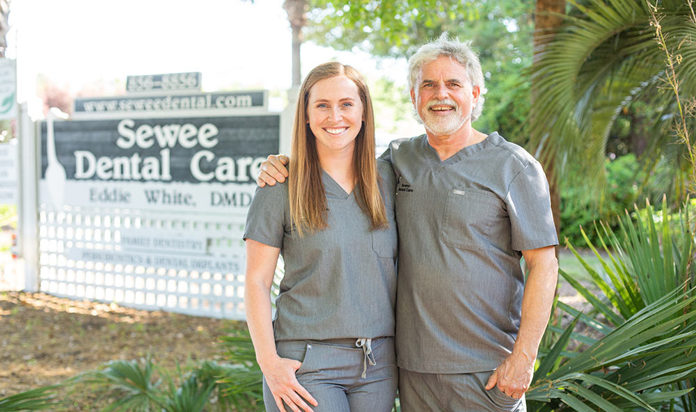 Dr. Ivy White and Dr. Eddie White of Sewee Dental Care in Mount Pleasant, SC
