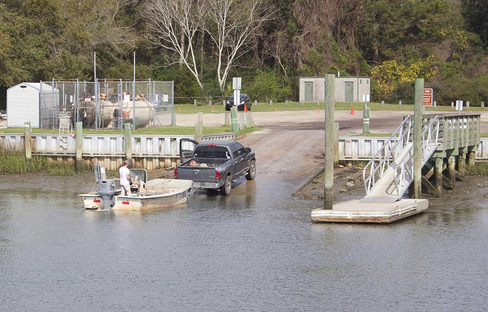 Photo of a boat launch. Photo by William Beebe.